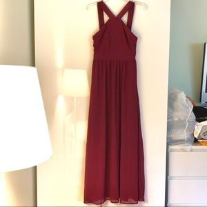 Lulus- Burgundy Dress